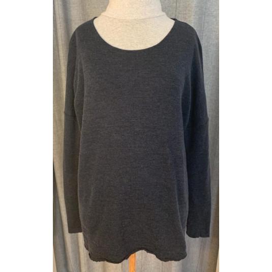 by basics oversized bluse - mørkeblå