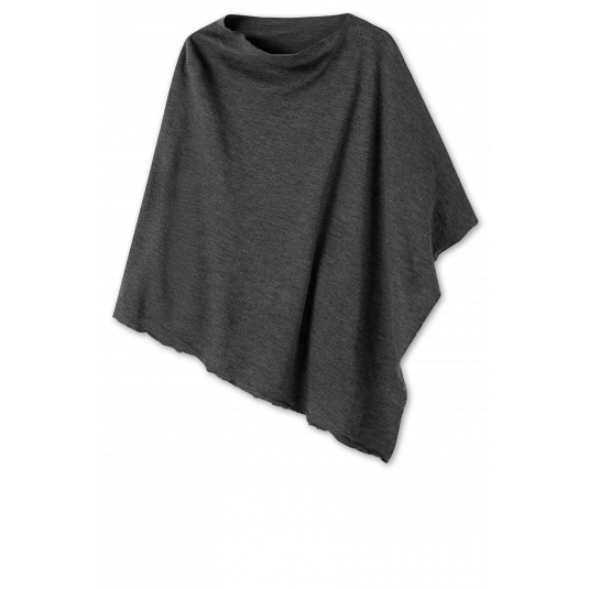 by basics poncho - antracitgrå