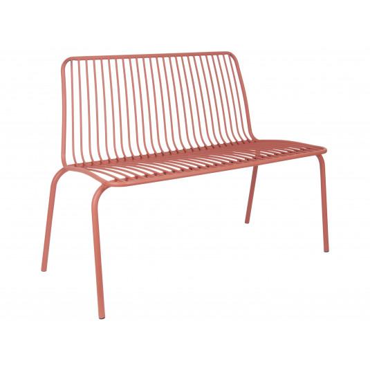 Leitmotiv havebænk i stål – brun