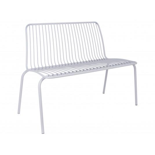 Leitmotiv havebænk i stål – grå