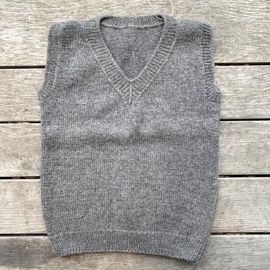 Montehome uldvest - grå