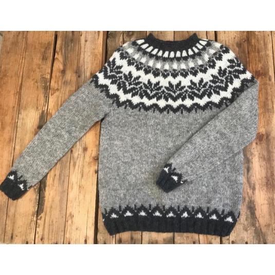 Montehome Vidak uldsweater - grå