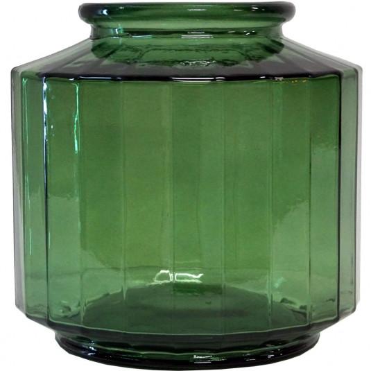 Trademark Living kantet vase, The Edge - grøn, stor