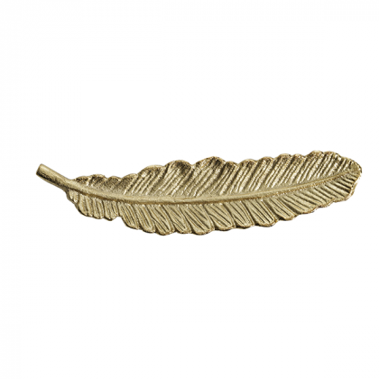 Cozy Living fad Platter Feather guld