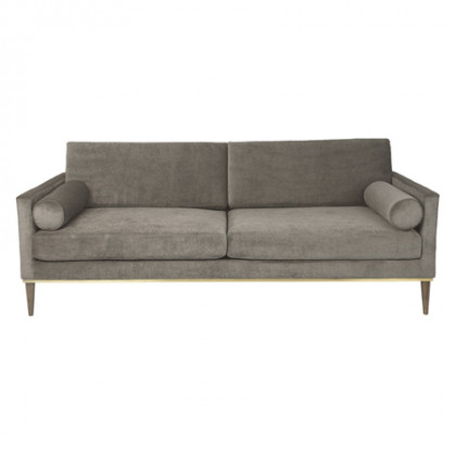 Cozy Living Club Couch - Platinum