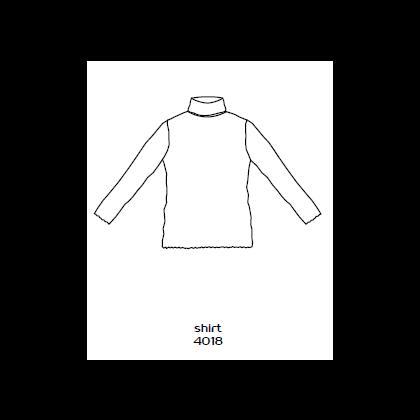 by basics bluse med rullekrave - lysegrå