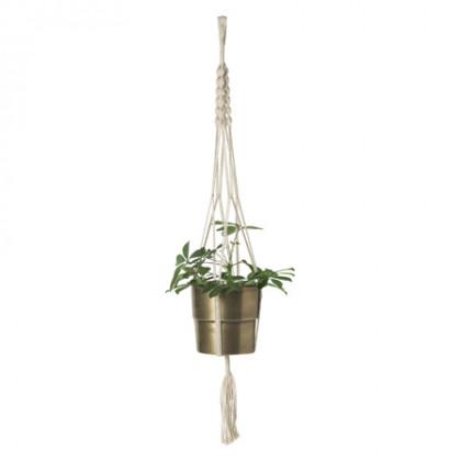 Cozy Living Flowerpot Hanger - råhvid