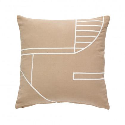 Hübsch sofapude - pink/hvid