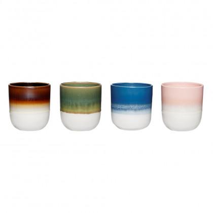 Hübsch keramikkrus, sæt med 4 stk.