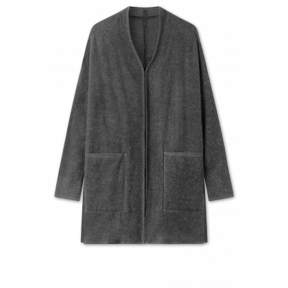 by basics OWN cardigan - antracitgrå