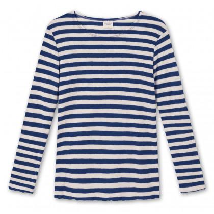 by basics Blusbar bluse - hvid/marineblå