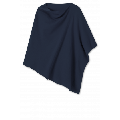 by basics Blusbar poncho - mørkeblå