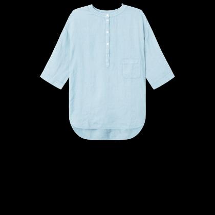 by basics OWN skjortebluse - lyseblå