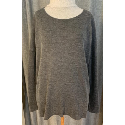 by basics Blusbar oversized bluse - antracitgrå