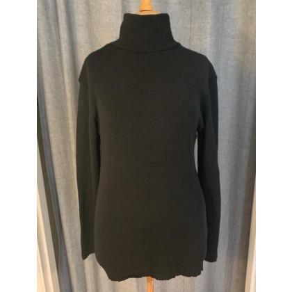 by basics Blusbar bluse med rullekrave - sort
