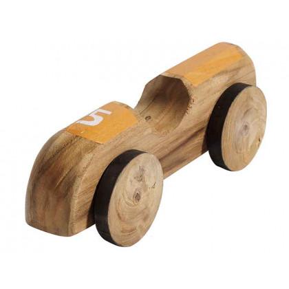 Racerbil Car no. 5 fra MUUBS - teak og gul