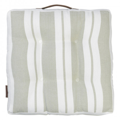 Cozy Living hynde Striped Cotton - moss, 4 stk.