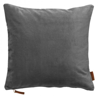 Cozy Living velourpude - Cool Grey, 2 stk.