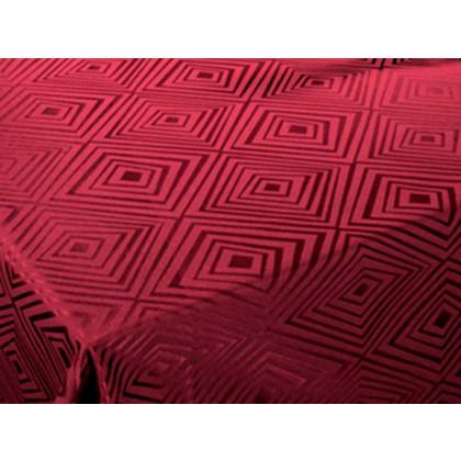 Damaskdug Engholm Diamond dyb rød