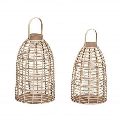 Hübsch lanterne i bambus - lille