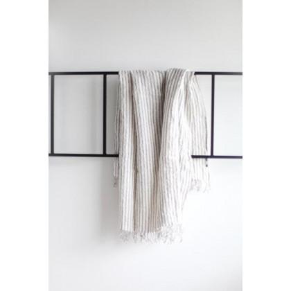 do.design badehåndklæde - Grey striped