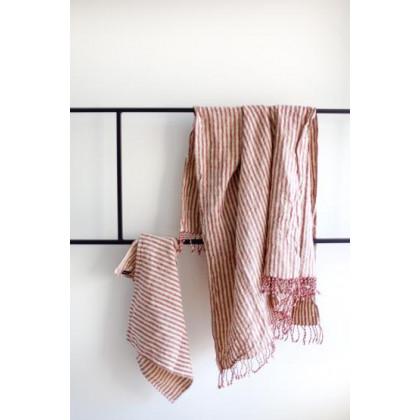 do.design badehåndklæde - Red striped