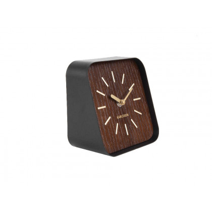 Table clock Squared, dark wood