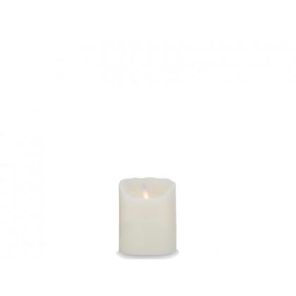 Sompex LED-bloklys elfenben glat 10 cm
