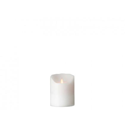 Sompex LED-bloklys i hvid frost 10 cm