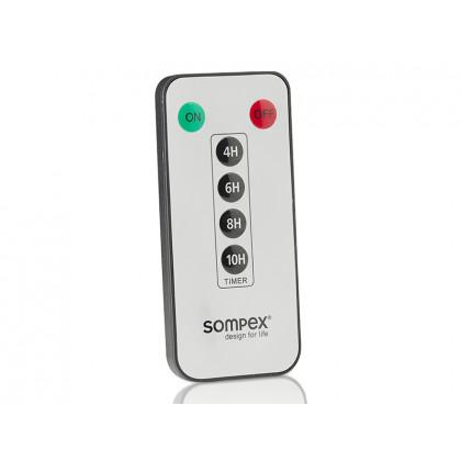 Sompex fjernbetjening til LED-lys med 4 timer-indstillinger