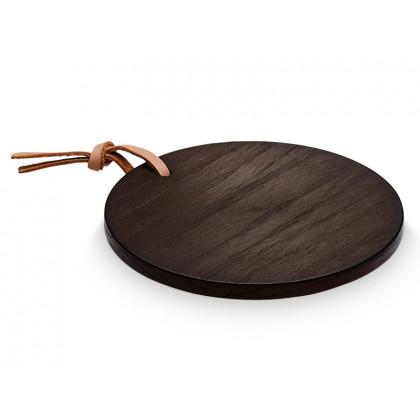 Levelys platte til lysestage mørk eg