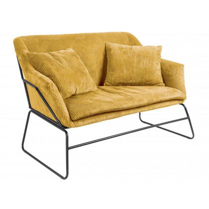 Leitmotiv sofa Glam – gul