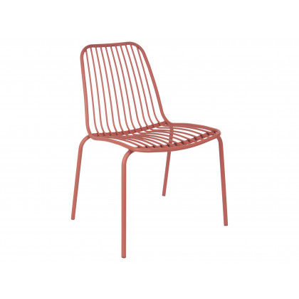Leitmotiv havestol i stål – brun