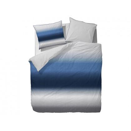 Marc O'Polo sengetøj Grada blå, til enkeltdyne