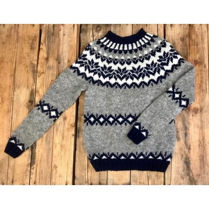 Montehome Vidak uldsweater - blå