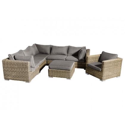 Muubs loungesæt Lazise brun og antracit