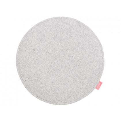 PYTT Living hynde Round Dot lysegrå uld