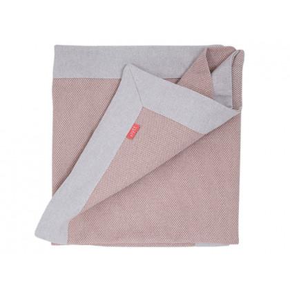 PYTT plaid Cross Weaving støvet rosa