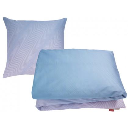 PYTT Living sengetøj Waves blå og pink