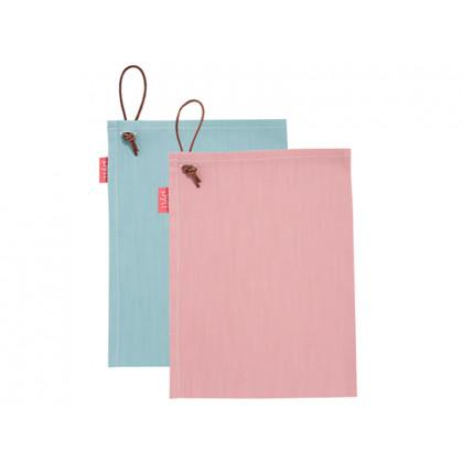 PYTT Living viskestykker rosa og aqua, 2 stk.