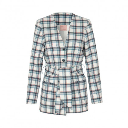 Schulz by Crowd Jolly blazer - White checkered