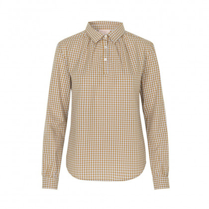 Schulz by Crowd Silas skjorte - Beige checkered