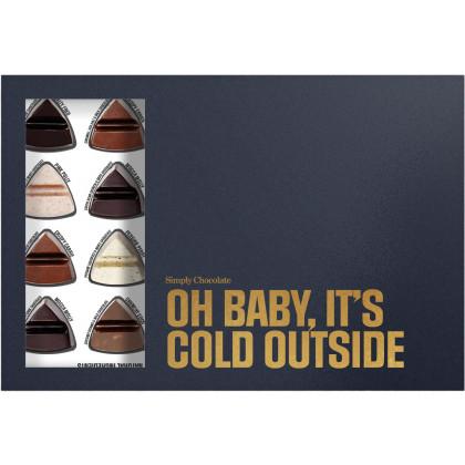 Simply Chocolate Chokolade gaveæske - Oh Baby, It's Cold Outside