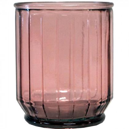 Trademark Living kantet vase/skjuler - rosa