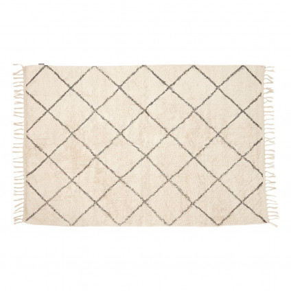 Hübsch gulvtæppe i bomuld