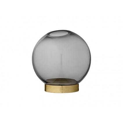 AYTM vase Globe sort og messing lille