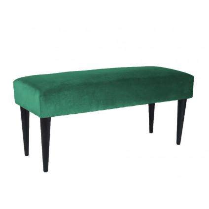 Leitmotiv bænk Lux velvet – grøn