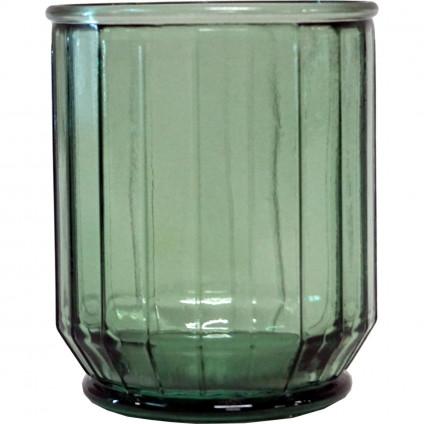 Trademark Living kantet vase/skjuler - grøn