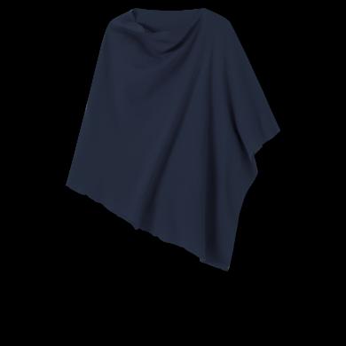 by basics poncho - mørkeblå