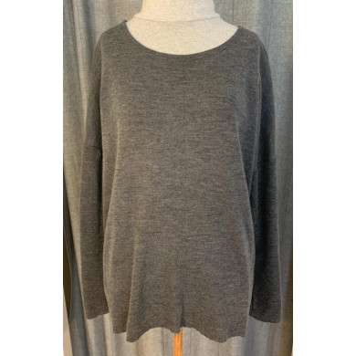 by basics oversized bluse - antracitgrå